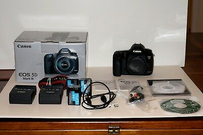 Canon EOS 5D Mark III 22.3MP Digital SLR Camera Mint! 4403 Shutter Count