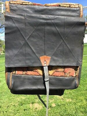 Vintage  Leather & Carpet Saddle Bags Quality Western Horse Tack from Turkey