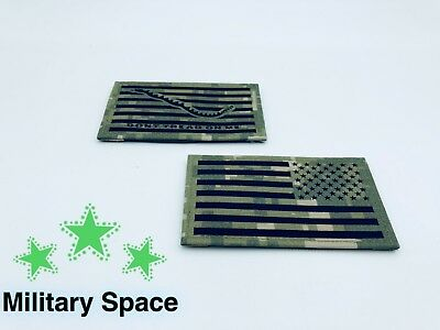 ORIGINAL US NAVY NWU Type III Woodland US Flag & Frist Navy Jack Patch Seal AOR2