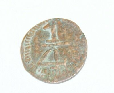 1/4 real 1813 . copper. province royalist coinage