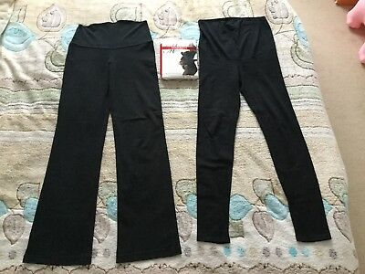 H&M Mama Maternity Pregnancy Black Leggings Yoga Trousers XS-S UK 6-8 EUR 34-36