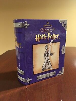 Harry Potter Hallmark Keepsake Ornament 2001 Chooses A Wand Pewter HTF Gift