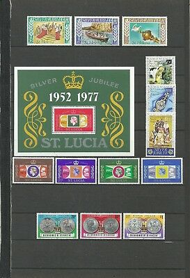 Silver Jubilee 1952-1977 (8) - St Helena - St Lucia - St Vincent + Grenadines