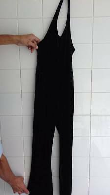 NEXT black velvet feel all in one playsuit  jumpsuit trousers size 10 years