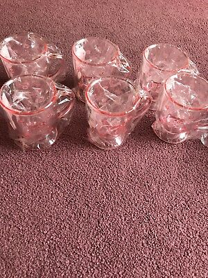 Hello Kitty Pink Cups Set Of 6