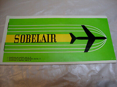 SOBELAIR AIRLINES PASSENGER TICKET AND BAGGAGE CHECK. ancien billet