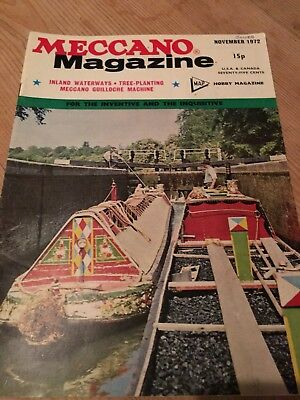 Meccano Magazine November 1972 - Canal Boat Cover And Feature