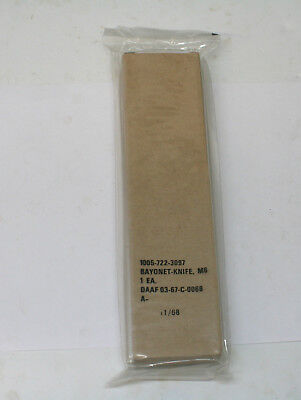 Original Vietnam Production 1968 Dated US M6 Bayonet New in Package