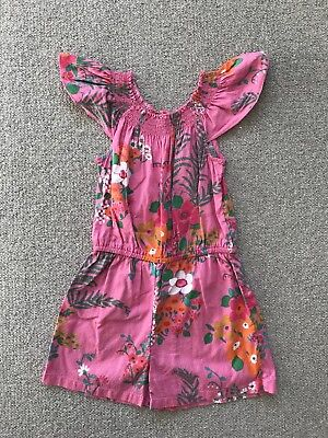Beautiful NEXT Girls Floral Playsuit. AGE 6 YEARS 116cm. Excellent Condition.