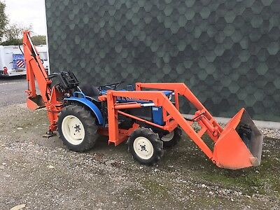 Iseki Compact Tractor With Lewis Backhoe And front loader