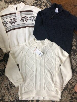 NWT lot Of 3 Boys Sweaters From Gymboree Sz 5-6