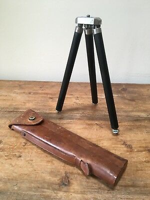 Vintage 'Zeiss Ikon' Camera Tripid & Original Case-VGC!
