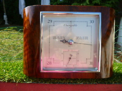 Vintage Art Deco Smiths Barotherm Wall Mounted Barometer / Thermometer  STUNNING