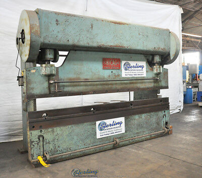 135 Ton x 12' Used Chicago Mechanical Clutch Press Brake 410-D A2242