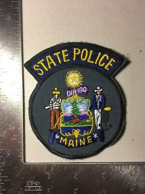 Maine State Trooper Police Department Patch Me Old