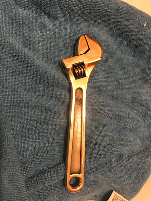 """6"""" Adjustable Wrench All Brass Non Sparking Non Magnetic"""