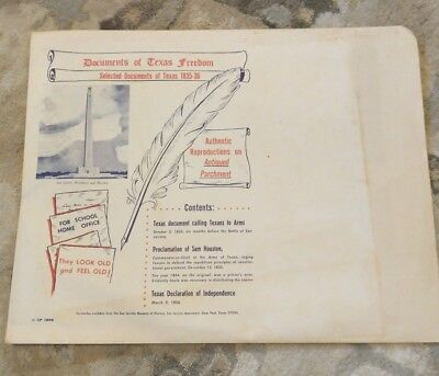 Documents Of Texas Freedom-Authentic Reproductions On Antiqued Parchment