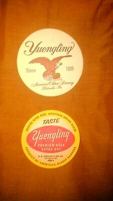 lot of 2 Yuengling beer coasters