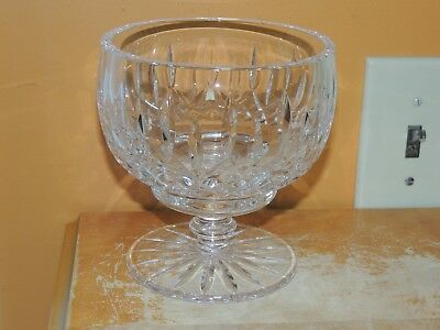 "Tyrone Irish Full Lead Crystal Hand Cut 5.5"" Centerpiece Bowl Compote Dish"