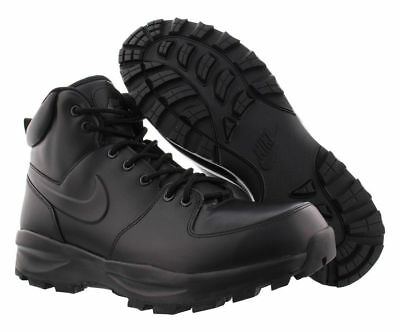 454350-003 Nike Manoa Leather Men's Boots Triple Black Sizes 8-13 New In Box