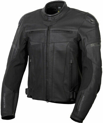 Scorpion Men's RAVIN Leather Motorcycle Sport Riding Jacket (Black) S (Small)
