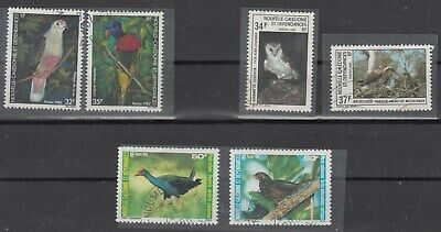 New Cadelonia. 1982-3&5 Birds stamps. SG684-5; SG718-9 & SG777-8. VFU.Very cheap