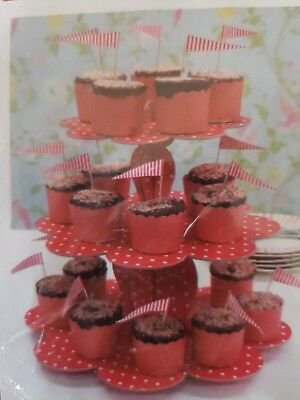 CUPCAKE STAND ROBERT GORDON RED POLKA DOT 3 TIER CUPCAKE STAND P/UP Melb or post