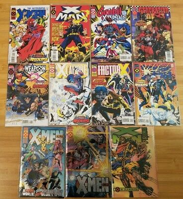 LOT OF 40 X-MEN:AGE OF APOCALYPSE-All Minis PLUS Alpha/Omega/Prime and Extras