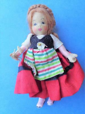 "Vintage Caco Grecon Erna Meyer Miniature Dollhouse Doll 4.5"" German English OLD"