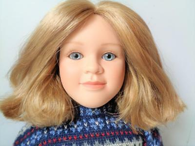 "1997 My Twinn Doll 22"" Dark Blonde Hair Blue Eyes White Body Freckles Original"