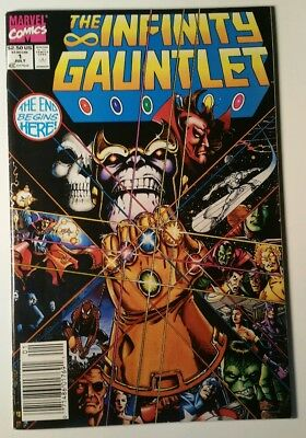 The Infinity Gauntlet #1 July 1991 Marvel  Comic Book Thanos Newsstand