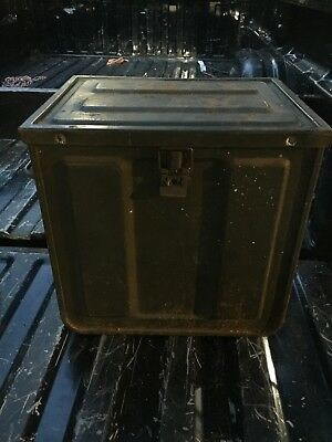 Vintage LARGE Ammo Component Box Crate 12x14x15  Ammunition Industrial Metal