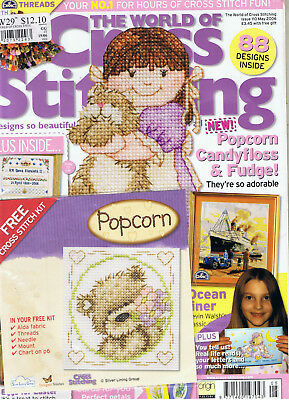 The World Of Cross Stitching Magazine Issue 110 With Free Gift still attached