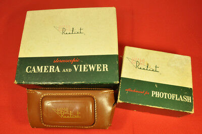 Stereo Realist ST 41 set with camera, ST 61 viewer, flash, in boxes, case and IB