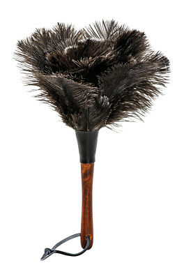 Redecker Feather Duster Ostrich with Wooden Handle, 30cm, Black, 468806