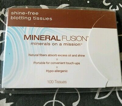 Mineral Fusion Shine Free Blotting Tissues Papers 100 Pack