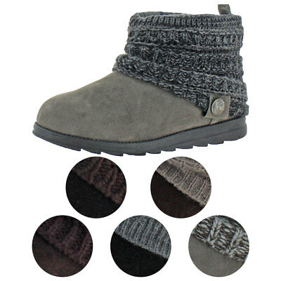 Muk Luks Patti Women's Cable Knit Cuff Booties Boots