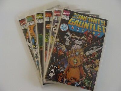 THE INFINITY GAUNTLET 1-6 Complete Set Marvel VF/NM Thanos Avengers