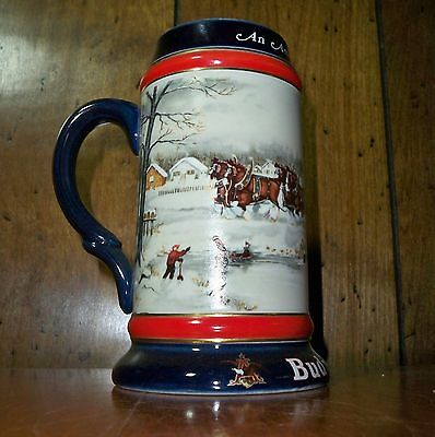 "Budweiser ""An American Tradition""  1990 Holiday Stein - CS112"
