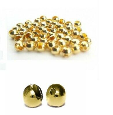 """Gold Slotted Tungsten Beads 2.0mm-4.5mm 5/64"""" 3/32"""" 7/64"""" 1/8"""" 5/32"""" 3/16"""""""