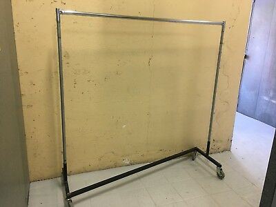 Heavy Duty Mobile Clothes Z Rack