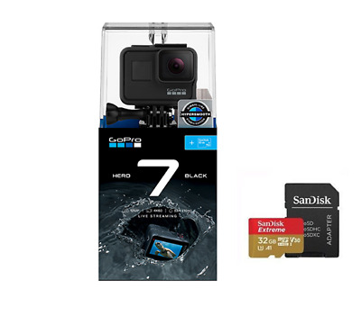 New GoPro HERO7 Black + 32G Sandisk Card - GOPRO Australia Authorized Dealer