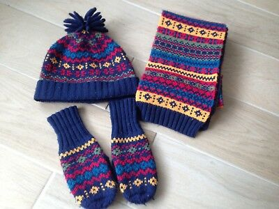boys hat scarf gloves set