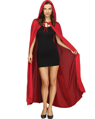 Red Hooded Adult Cape Size OS