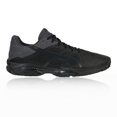Asics Mens Gel-Solution Speed 3 Tennis Shoes Black Lightweight Trainers