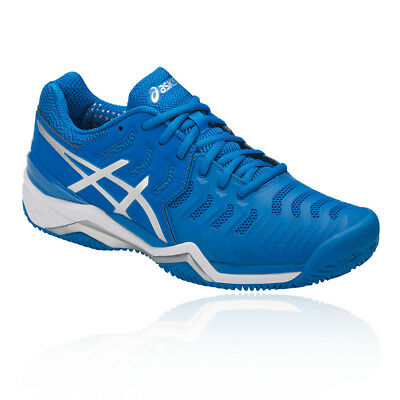 72f2a41c861 Asics Mens Gel-Resolution 7 Clay Tennis Shoes Blue Sports Breathable  Lightweight