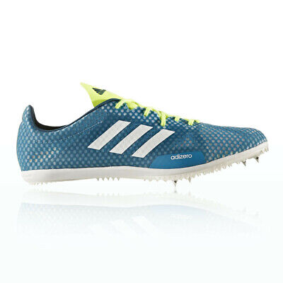 Adidas Adizero Ambition 4 Mens Blue Track Field Running Shoes Spikes Trainers