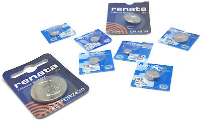 Renata Watch Batteries Mercury Free All sizes