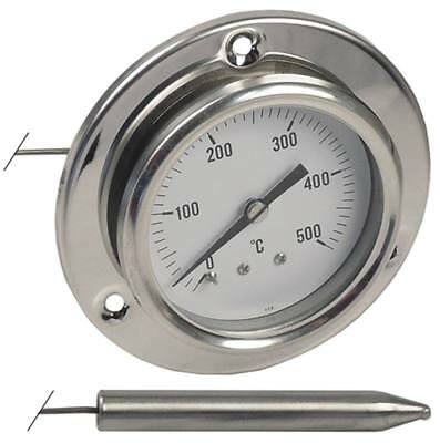 Thermometer Installation 60mm Sensor 10x63mm Capillary Length 1.000mm +500°C