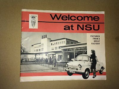 NSU Factory Publication - Welcome at NSU - Motorcycles, Cars & Wankel engine '61